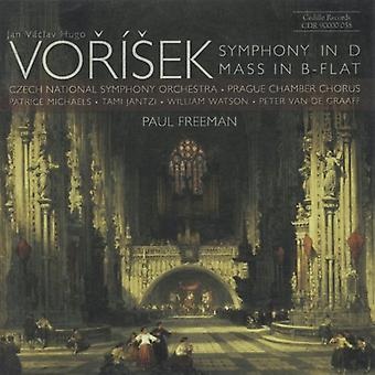 J.V. Vorisek - Vorisek: Symphony in D; Mass in B-Flat [CD] USA import