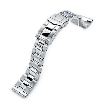 Strapcode watch bracelet 21.5mm super oyster 316l stainless steel watch band for seiko tuna, brushed & polished submariner clasp