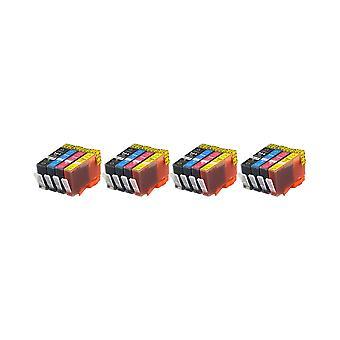 RudyTwos 4 x reemplazo de unidad de sistema de tinta HP 364XL negro cian Magenta y amarillo Compatible con Photosmart 7510, 7520, B8550, B8553, B8558, C5324, C5370, C5373, C5380, C5383, C5388, C5390, C5393, C6324,