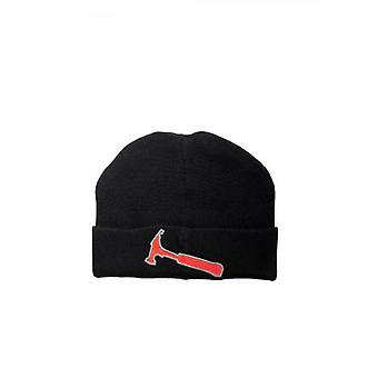Lanvin Ribbed Wool Beanie Hat