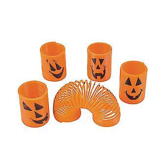 12 Mini Pumpkin Magic Springs för Halloween Party Väskor