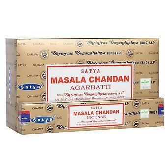 Quelque chose de différent Satya Masala Chandan encens bâtons (12 packs)