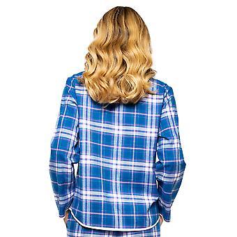 Cyberjammies Eliza 4544 Kvinnor's Blue Mix Check Pyjama Top