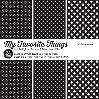 Le mie cose preferite nero & Punti bianchi 6x6 Pollici Paper Pad
