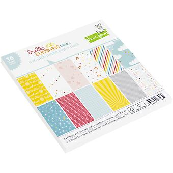 Lawn Fawn Hello Sunshine Remix Petite 6x6 Inch Paper Pack