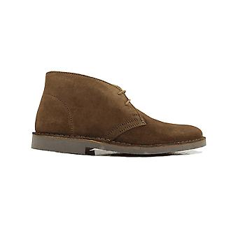 Loake Sahara Brown Suede Leather Mens Desert Boots