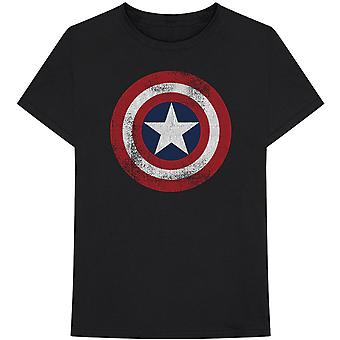 Marvel Comics Captain America Distressed Shield Official T-Shirt