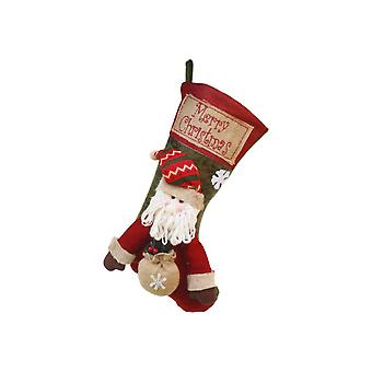 Large Christmas Stockings Santa Claus Hanging Ornament