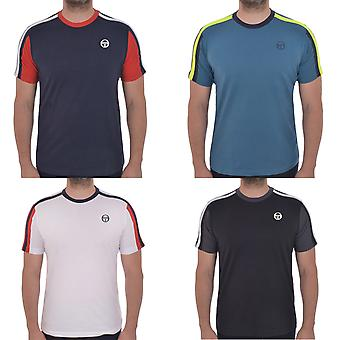 Sergio Tacchini Mens Fritzi Short Sleeve Casual Cotton Crew Neck T-Shirt Top Tee