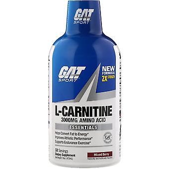 GAT, L-Carnitine, Aminozuur, Mixed Berry, 3.000 mg, 16 oz (473 ml)