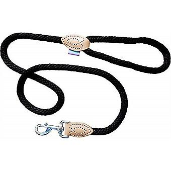 Dog & Co Supersoft Rope Trigger Lead - Zwart - 14mm x 48 inch