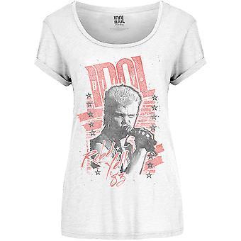 Κυρίες Billy Idol Επαναστάτης Κραυγή Επίσημη Tee T-Shirt Γυναίκα