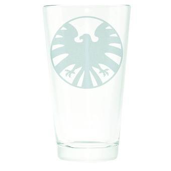 Marvel Shield Logo Silhouette Etched 16oz Cup gls-avas-shlde