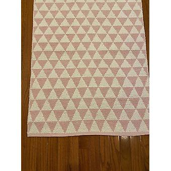 Spura Home Diamond Woven Minimalist Pink Hallway Transitional Runner 2.5x6 Rug