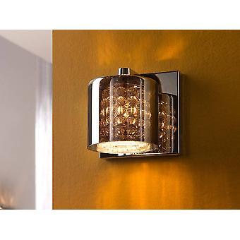 Crystal Wall Lamp Chrome, Spiegel, G9