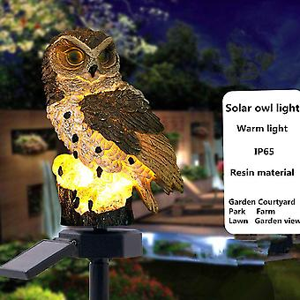 Led Garden Lights Solar Panel Fake Owl Light Solar-powered Lawn Lamp For Home Garden