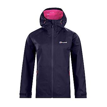 Berghaus Deluge Pro Womens Outdoor Waterproof Full Zip Jacket Coat Navy Blue