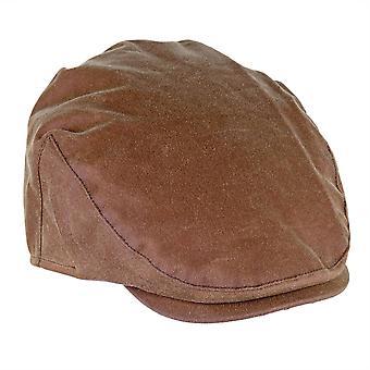 ZH002 (TAN S 56cm ) Buchanan Wax Flat Cap