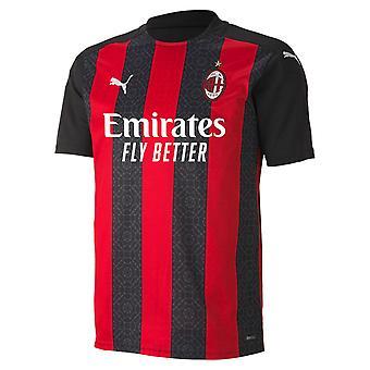Puma Herren AC Milan Home Shirt 2020/21 Jersey Fußball Training T-Shirt T-Shirt Top
