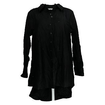 ليزا رينا جمع المرأة & apos;ق أعلى الأكمام الطويلة الأسود A368996