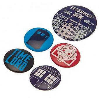 Doctor Who Badge Set (Pack of 5)