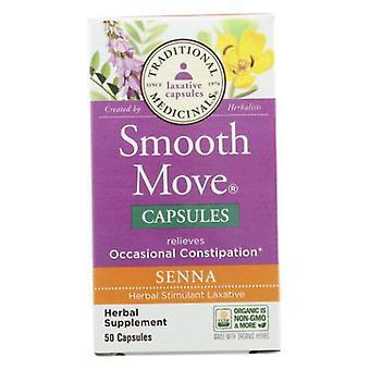 Traditional Medicinals Teas Smooth Move Senna, 50 Caps