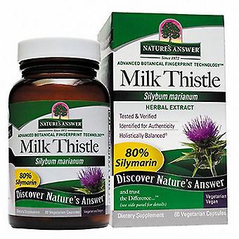 Nature's Answer Milk Thistle Seed Gestandaardiseerd, 60 Veg Caps
