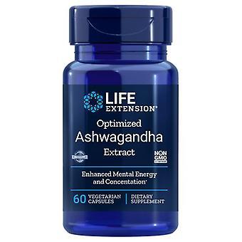 Extrato de Ashwagandha otimizado de extensão de vida, 60 vcaps
