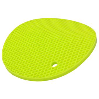 5pcs Silicone Round Placemat Tableware Heat Resistant Cup Coaster Holder Verde