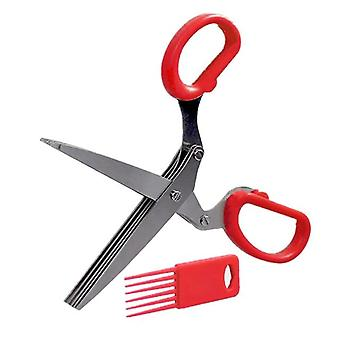 Minced 5 Layers Basil Rosemary Kitchen Scissor Shredded Chopped Scallion Cutter