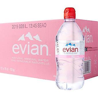 Evian Water Sport Cap 750ml x 12