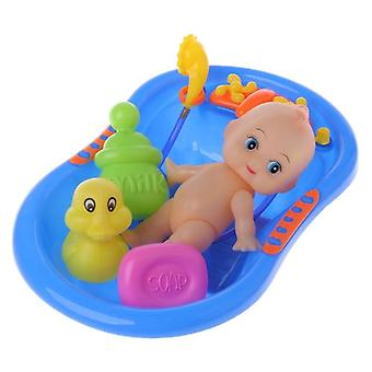 Bathtub With Baby Doll Bath Toy For Child- Water Floating