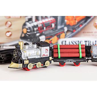 11pc Batterie-powered Classic Train Set- Jouet de locomotive