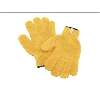 Kent & Co Twines PVC Glove Yellow Latex Mens NO17