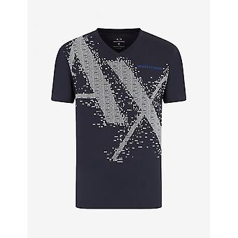 ARMANI EXCHANGE Cotton Navy T-shirt