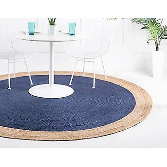 Round Large Area Natural Jute Rug