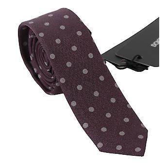 Dolce & Gabbana Violetti Polka Dot Classic Slim Solmio Tie