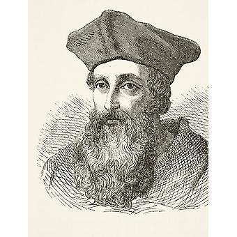 Kardinal Reginald Pole 1500 bis 1558 Englisch römisch-katholische Kardinal aus der nationalen und in-Geschichte von England von William Aubrey veröffentlicht London ca. 1890 PosterPrint
