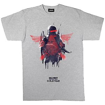 Womens Call Of Duty Boyfriend Fit T Shirt Black Ops Cold War Winged Soldier