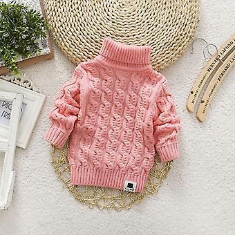 Turtleneck Pullover For Winter-solid Color Varme trøjer til Baby