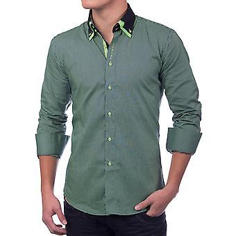 Menns Langermede knappen ned-skjorte poloshirt SlimFit Casual (forskjellige farger)