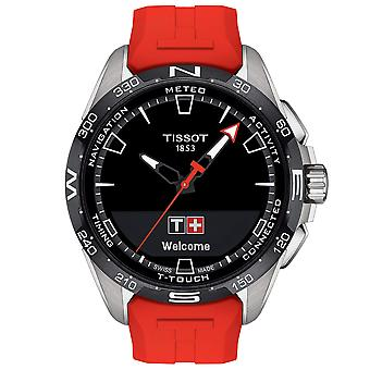 Tissot T1214204705101 Mens T-Touch Connect Solar Red Silicone Watch