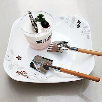 Schep lepel en vork Set