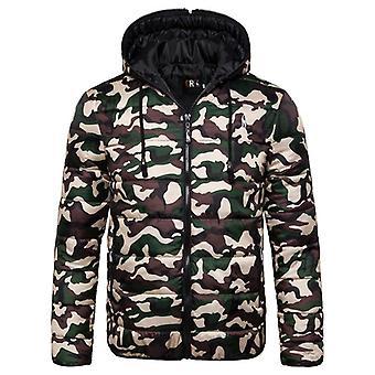 الشتاء سترة الرجال هوديد باركا الدافئة معطف الشتاء Thicken سستة التمويه
