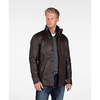 Mens Fancy Lambskin 4 Button lederen jas