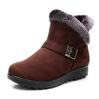 Winter Warm Short Fur Plush Ankle Plus Size Platform Boot Ladies Shoes