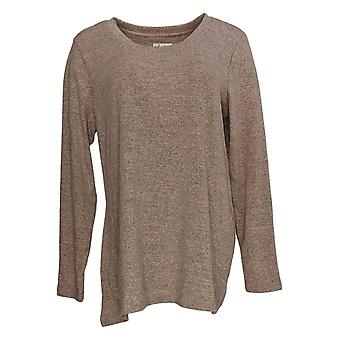 Denim & Co. Women's Sweater Trapeze Scoop Neck Tunic Pink A372297