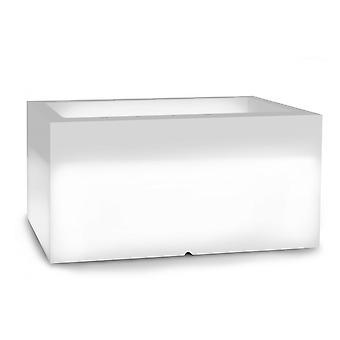 Pflanzgefäß weiß - 5W LED-Beleuchtung - 75x35x38 cm