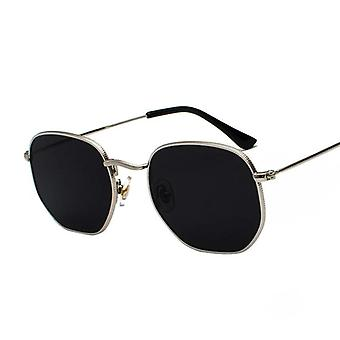 Square Metal Frame Sunglasses Pilot Mirror Classic Retro Sun Glasses/women