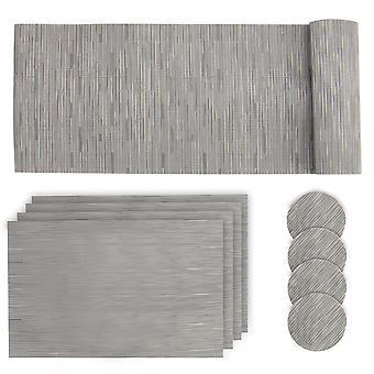 Grau Tisch Matte Set | Pukkr